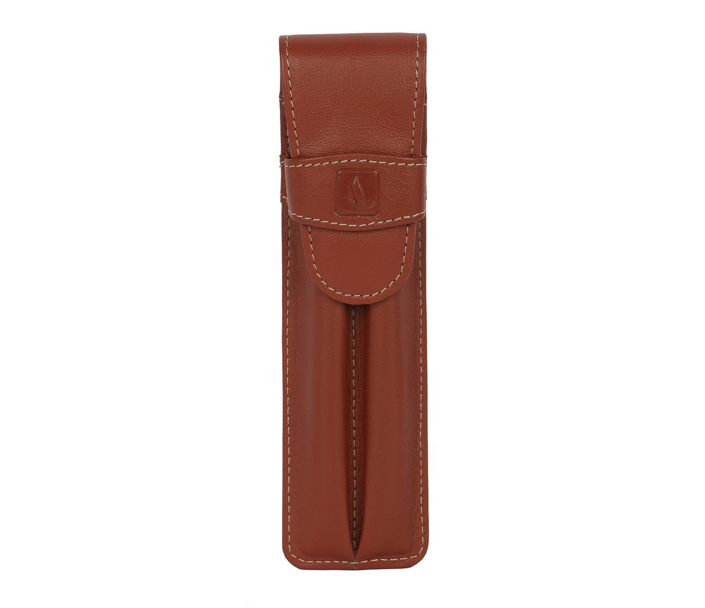 Leather Pen Case(Tan)W51