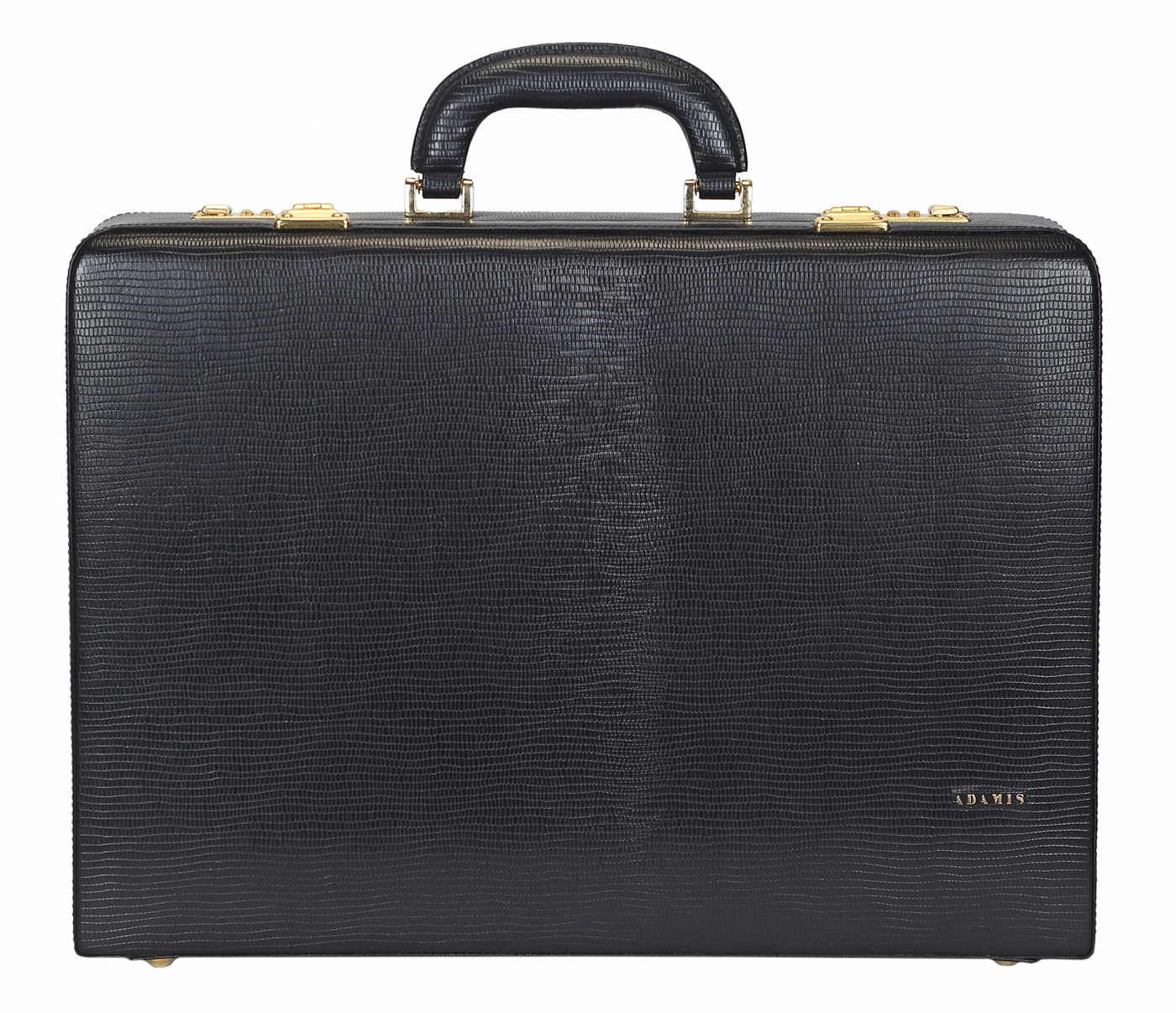 BC13--Briefcase hard top in Genuine Leather - blk