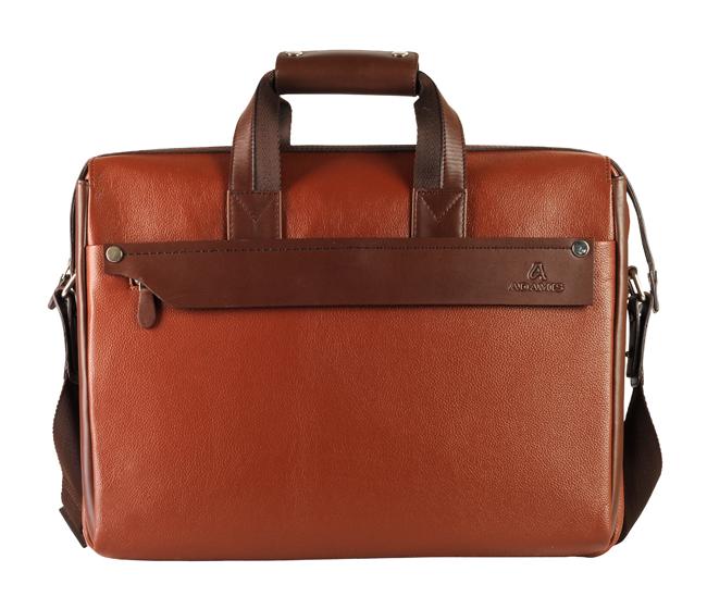Henry Leather Portfolio / Laptop Bag(Tan/Brown)LC27