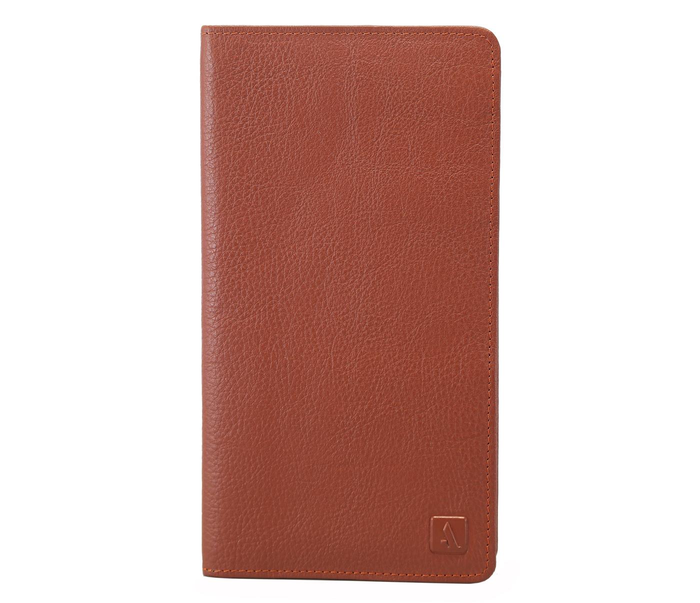 W85-Rafel -Travel document wallet in Genuine Leather - Tan